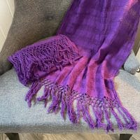 écharpe rebozo violet